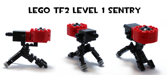 Lego TF2 Level 1 Sentry by HybridAir