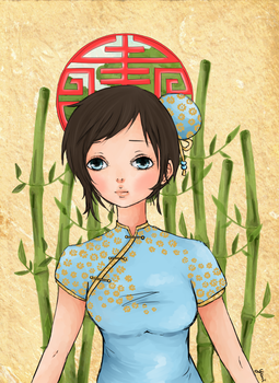 Qipao Girl by yunitea