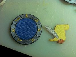 Stargate Earth address and Paper quill patches by ScrwLoose