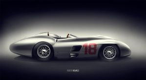 Mercedes Benz 300 SLR by roobi