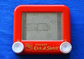 Nyan Cat Etch A Sketch by pikajane