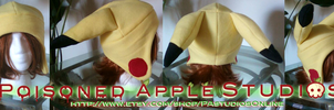 Pikachu Fleece Hat Style 2 by kuramachan