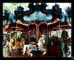 Carousel in the Park by broken-spirit00