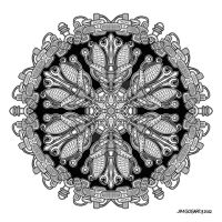 Mandala drawing 36 by Mandala-Jim