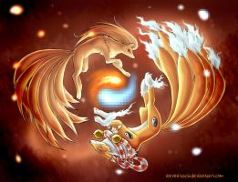 Pokemon and Digimon: 18 Tails of Harmony by Eeveetachi