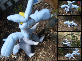 Commission: Kyurem Plush by MouseAlchemist