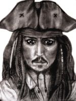 Captain Jack Sparrow by tanjadrawing