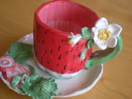 Strawberry TeaCup by Portrait-Angel
