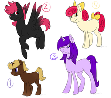Pony Adoptables 1 -OPEN- by Seffiron