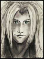 Sephiroth - pencil drawing by Miarath