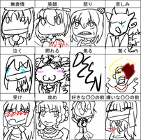 Expression Chart by DEENplz