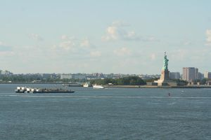 Statue and Skyline 1 by hyannah77-stock