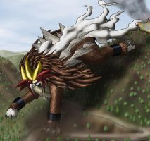 Giant Entei by StampyDragon