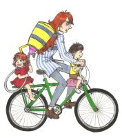 Riding a bicycle by Jellybeam
