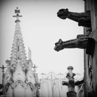 Gargoyle and chapel by lostknightkg