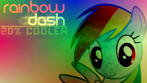 Rainbow Dash 20% cooler wallpaper by iCammo