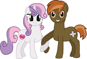 Grown-Up Sweetie Belle and Button Mash by Crisostomo-Ibarra