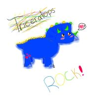Triceratops ROCK by Teefyluff