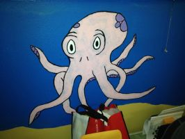 Octopus Painting by HigeOkami