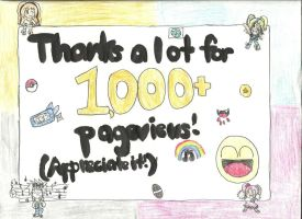 Thanks for 1000 Pageviews! :D by preciousserenity657