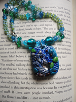 Art Crossing 7: Blue Owl Necklace by Lucky101212