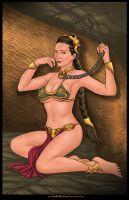 Commission: The slave Princess Leia by johnbecaro
