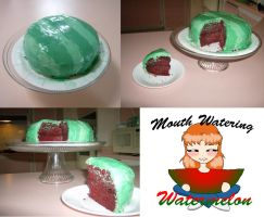 Mouth Watering Watermelon Cake by KittyCowLexa