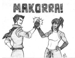 Makorra sketch commission by stuffaeamade