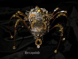 Biomechanic Golden Latrodectus II by SpiffsHexapodS