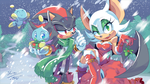 Shadow and Rouge Christmas Wallpaper by Ziggyfin