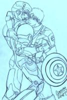 Ironman and captain America 2 by GIASAMA