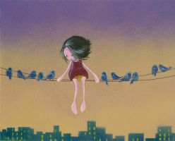 Birds on a Wire by Taowap0914
