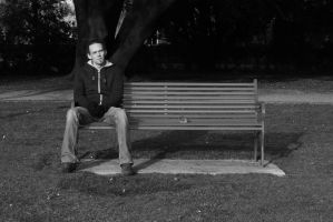 Tom On The Bench by kizgoth