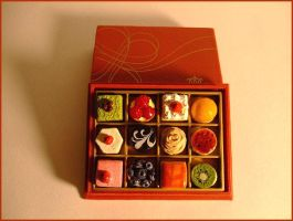 Box of Mini Cakes by decima