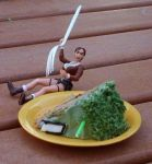 Lara Croft demands cake . . . by Kitten-of-Woe