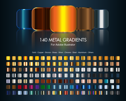 Illustrator Metal Gradients by TrabzonSport