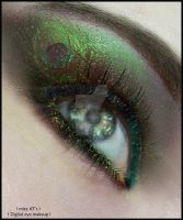 peacock digital eye makeup by mizZ-AT