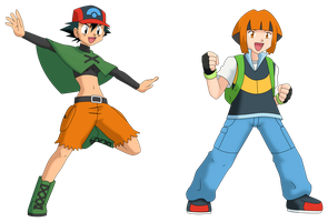Ash-Gardenia head swap vector by Insert-artistic-nick