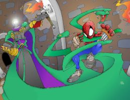 spider-man vs mysterio by the-mole-lives