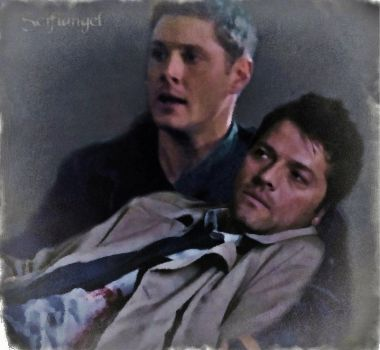 I've Got You-ficlet and watercolor filter manip by Scifiangel