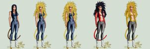 Ava Super Saiyan Stages by MagnaAngel