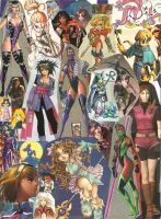 Girls of Gaming Collage by razyjean