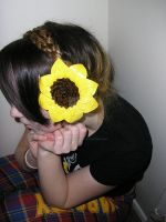 Duct Tape Sunflower Hair Clip by DuckTapeBandit