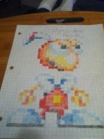 8-Bit Dynamite Headdy Drawing by TheKnownManatee