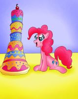 Pinkie Pie and the Cake by TheRealPennyLane