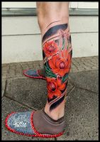 asia flowers by CAMOSartTATTOO