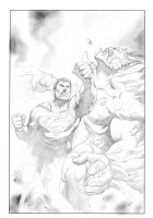 Superman VS Doomsday by FlowComa