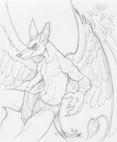 Sketch for Duamutef by zillabean