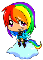 Chibi Rainbow Dash by Septic-Kitty