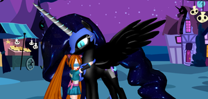 Nightmare Night Hug For Nightmare Moon by Mario-McFly